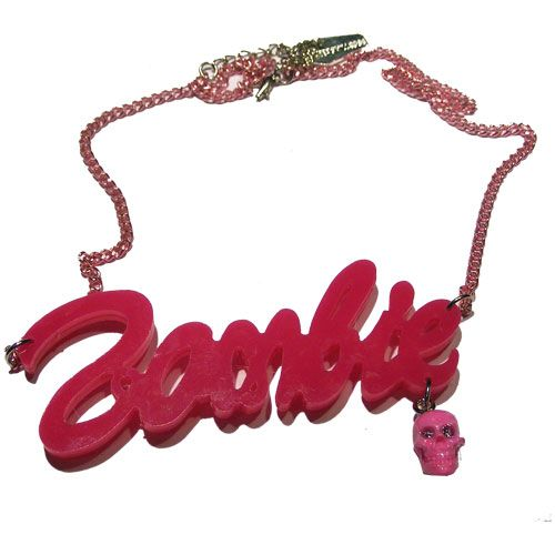 Kreepsville 666 Zombie Pink Necklace