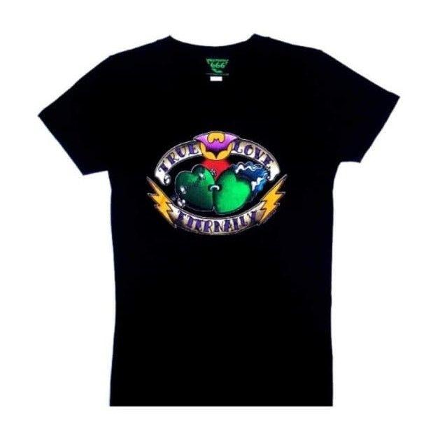 Kreepsville 666 True Love Eternally Black Lady Fit Tshirt