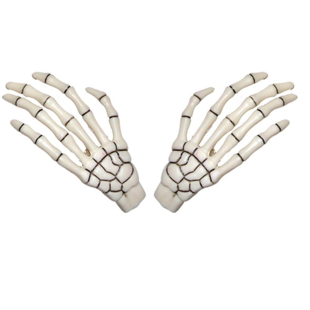 Skeleton Bone Hand White Hair Slides