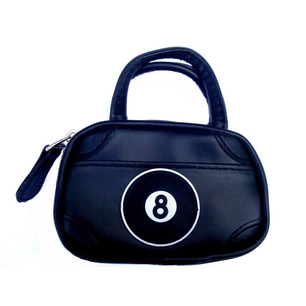Mini Holdall Bag Black With Eight Ball