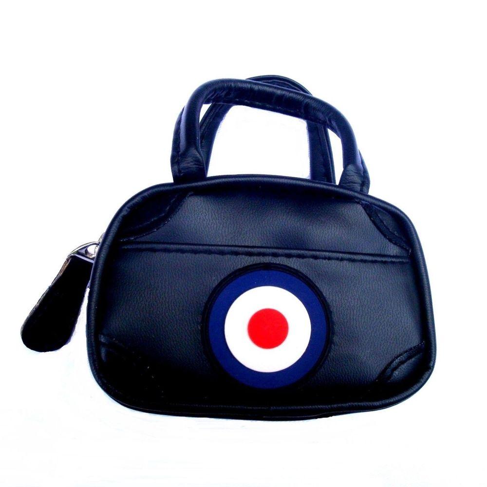 Mini Holdall Bag Black With Mod Target