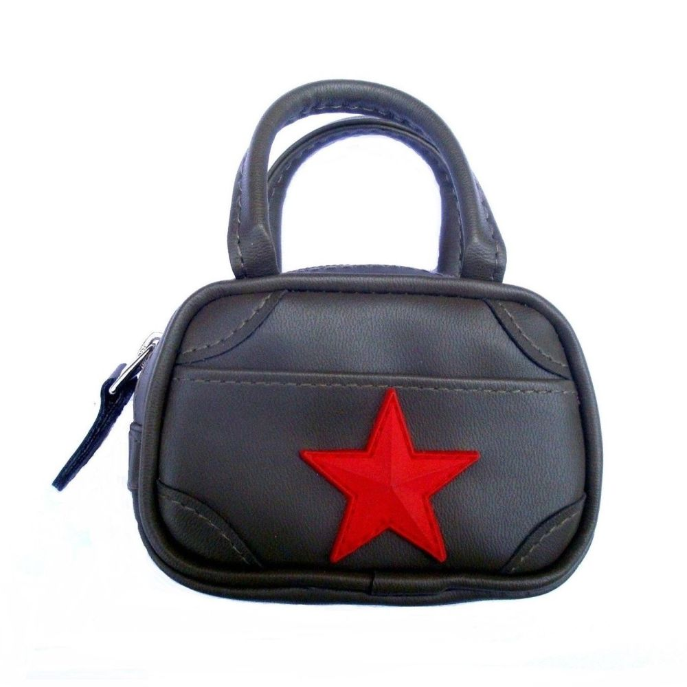 Mini Holdall Bag Green With Red Star