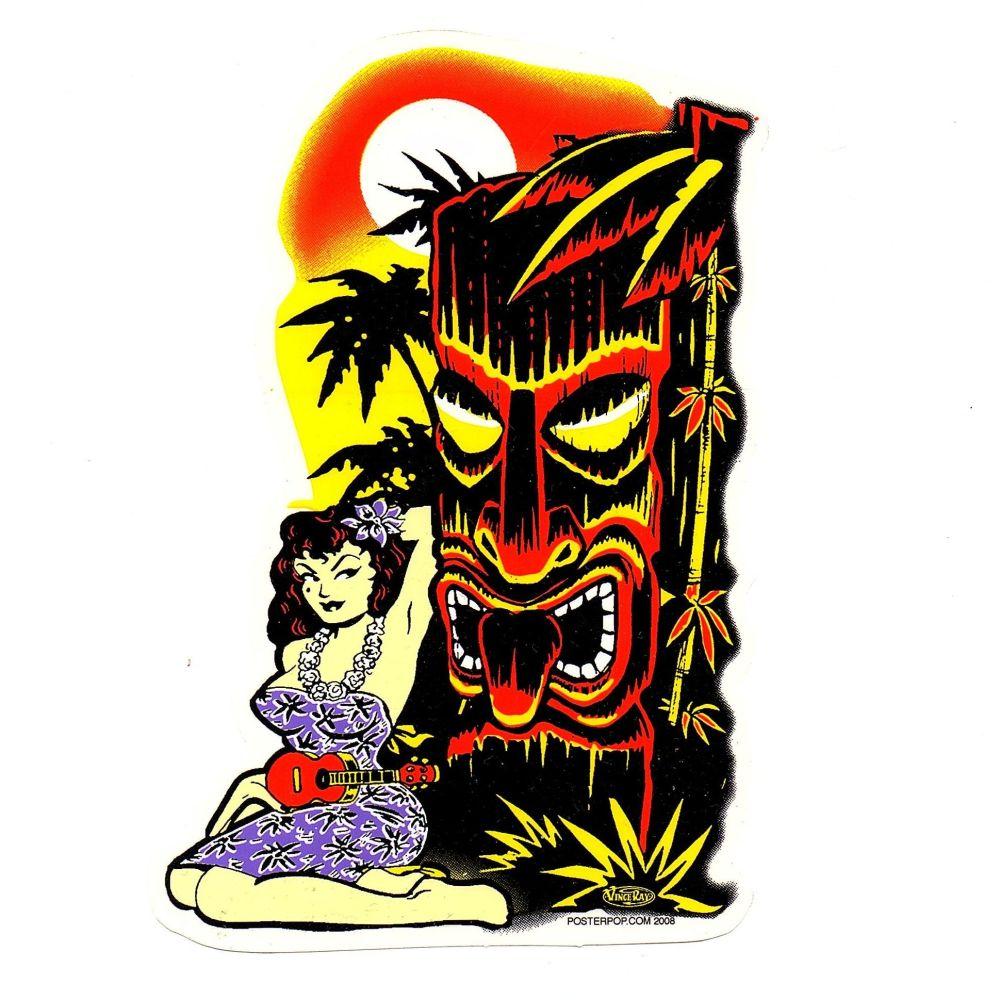 Vince Ray Hula Tiki Sticker