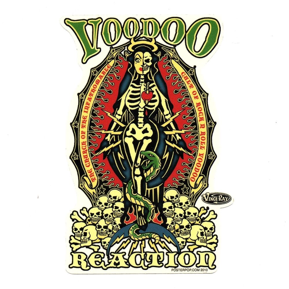 Vince Ray Voodoo Reaction Sticker