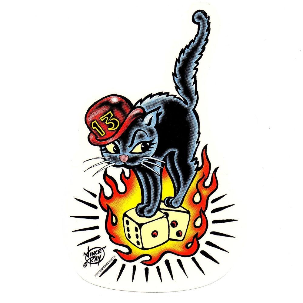 Vince Ray 13 Cat Sticker