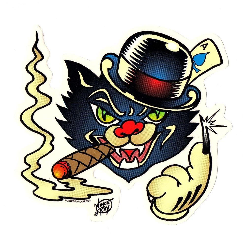 Vince Ray Black Cat Sticker
