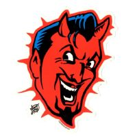 Vince Ray Devil Head Sticker