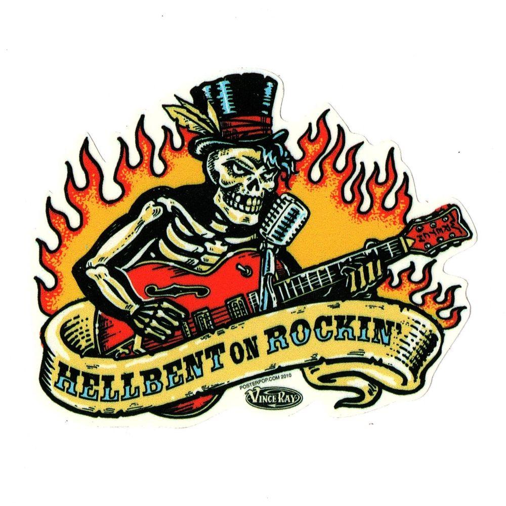 Vince Ray Hellbent Sticker