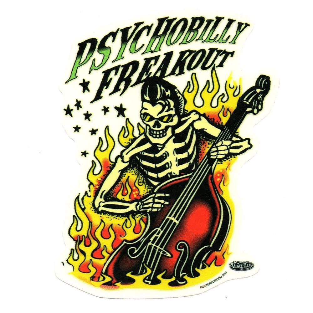 Vince Ray Psychobilly Freakout Sticker