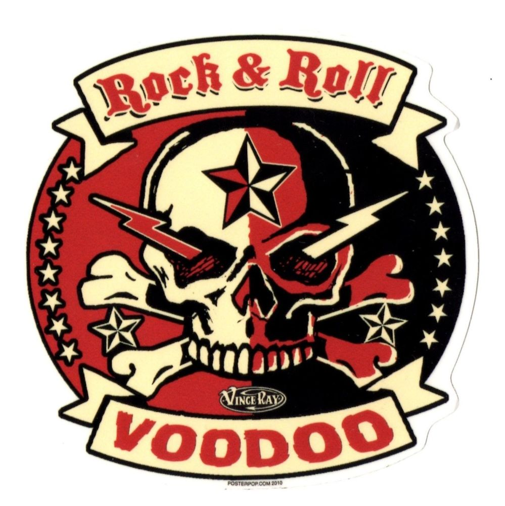 Vince Ray Rock And Roll Voodoo Sticker