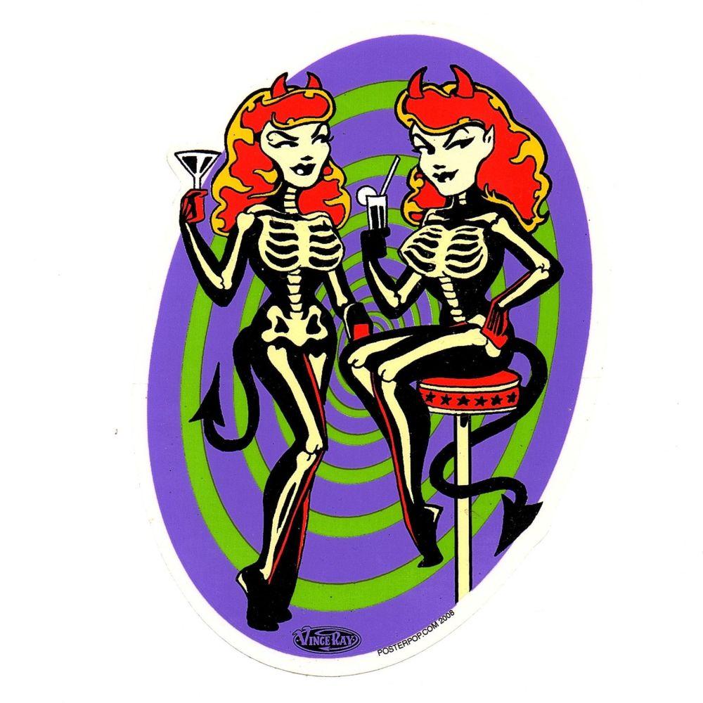 Vince Ray Skelli Bargirls Sticker