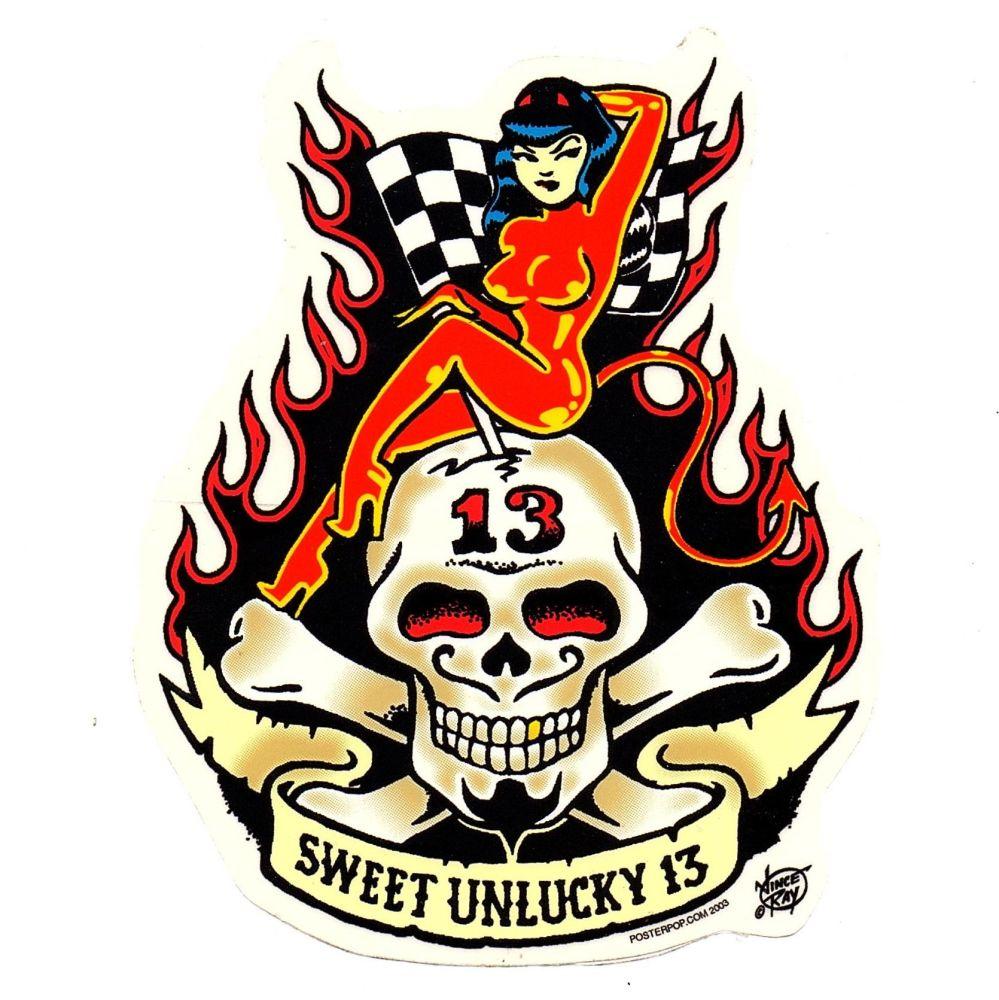 Vince Ray Sweet Unlucky 13 Sticker