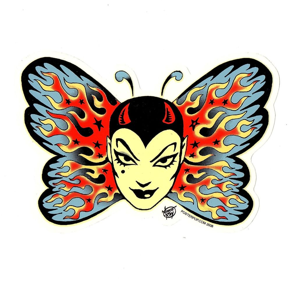 Vince Ray Tattoo Butterfly Sticker