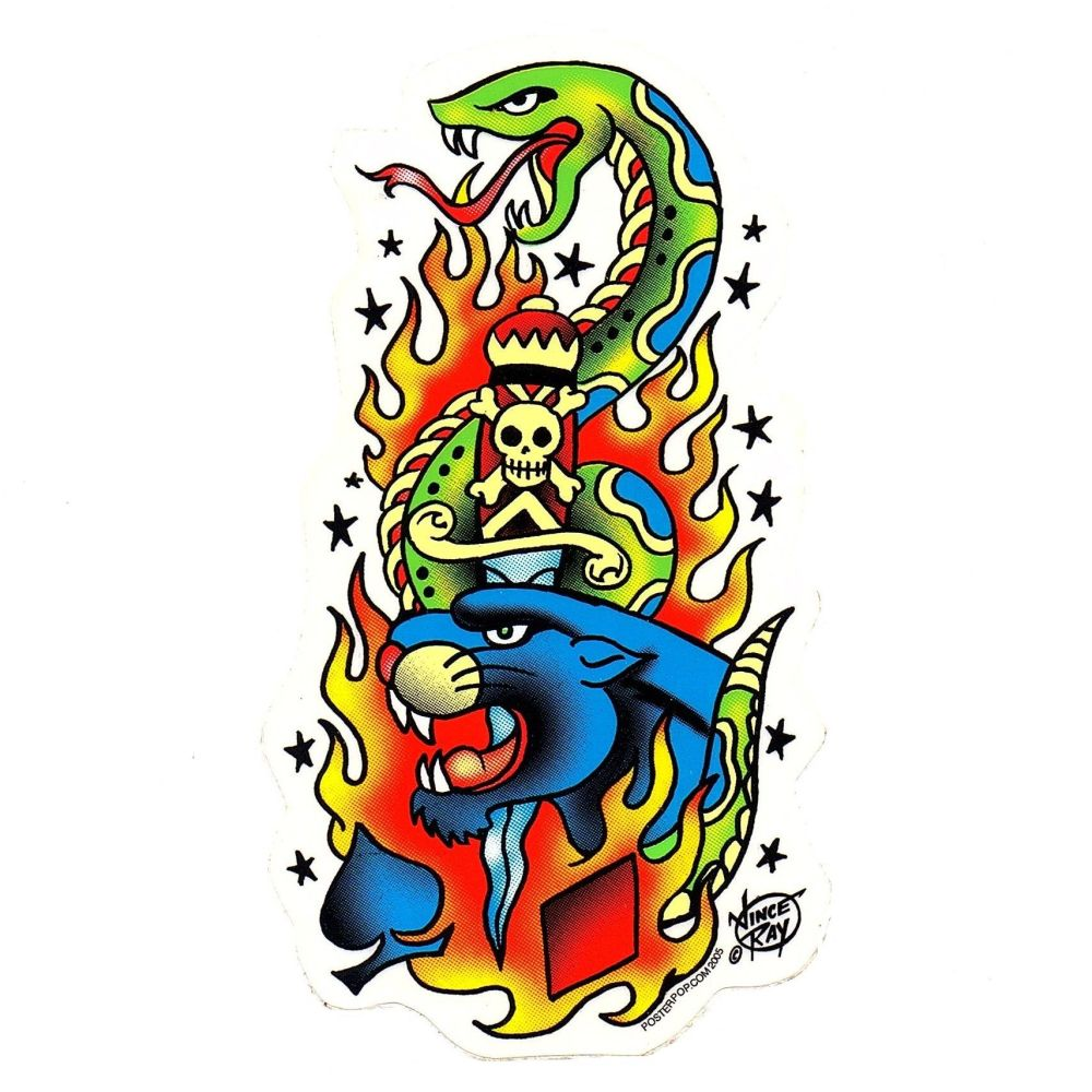 Vince Ray Tattoo Sticker