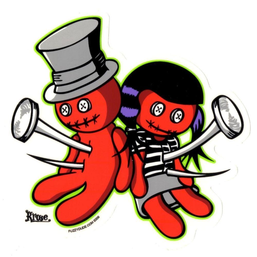 Kruse Voodoo Luv Sticker