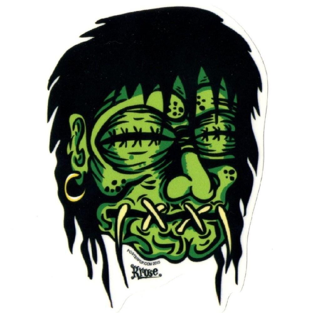 Kruse Shrunken Head Sticker