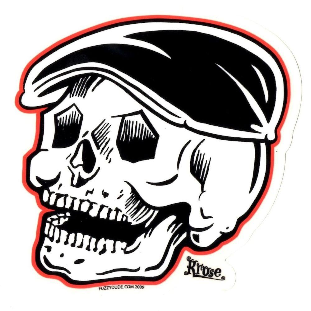 Kruse Rodder Skull Sticker