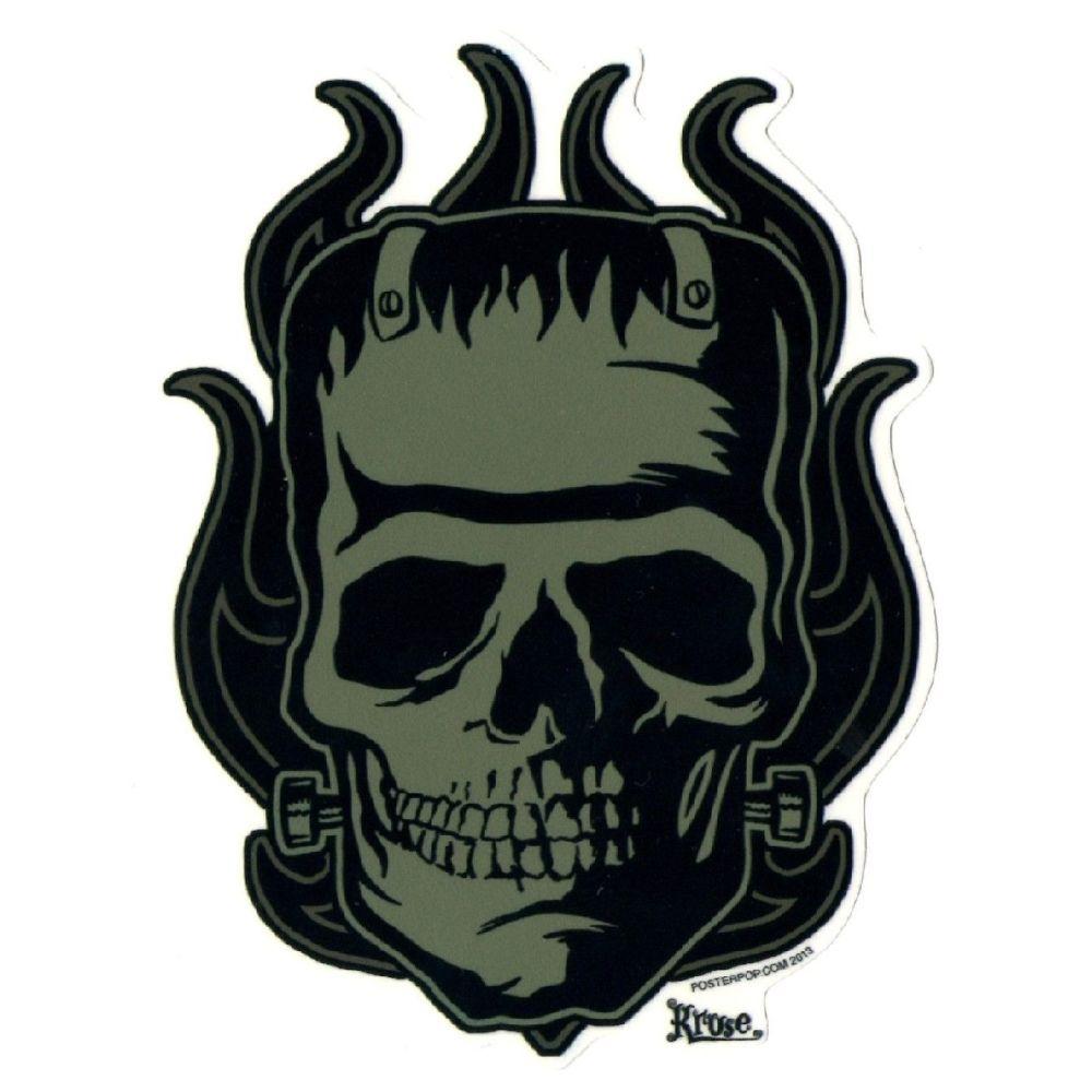 Kruse Franken Skull Sticker