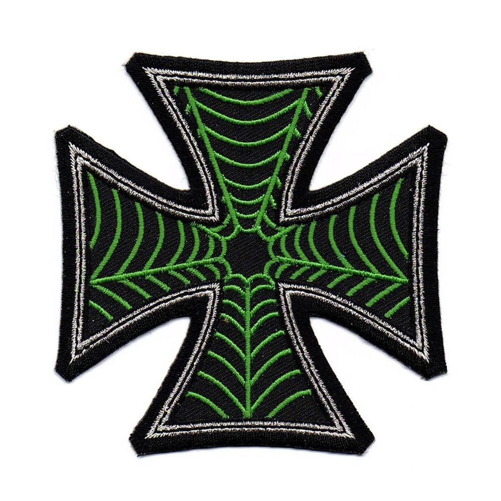 Kreepsville 666 Web Cross Green Patch