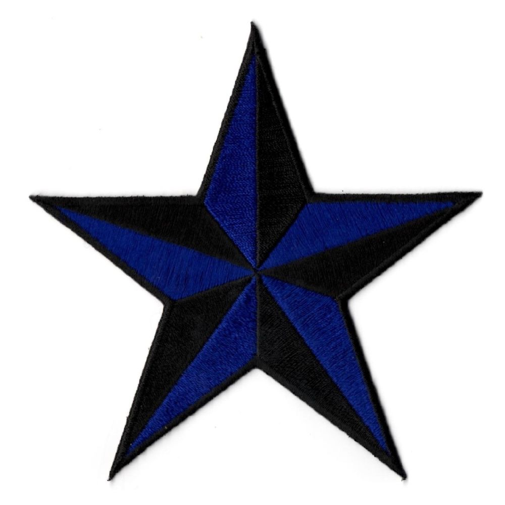 Nautical Star Black And Blue Patch