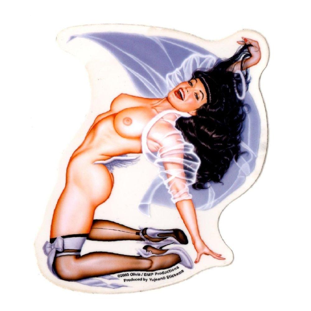 Olivia Halo Bettie Page Sticker