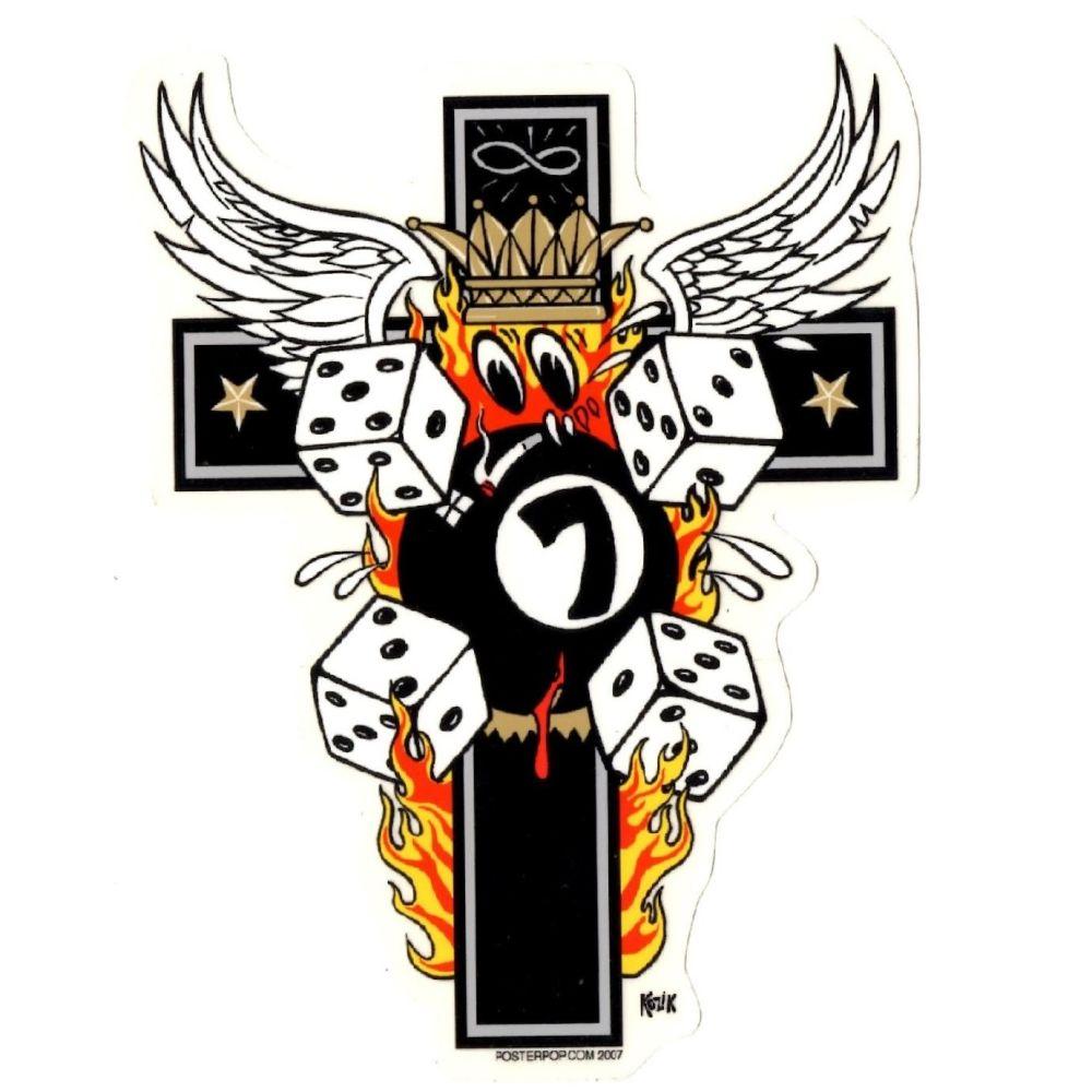 Kozik Emos Cross Sticker