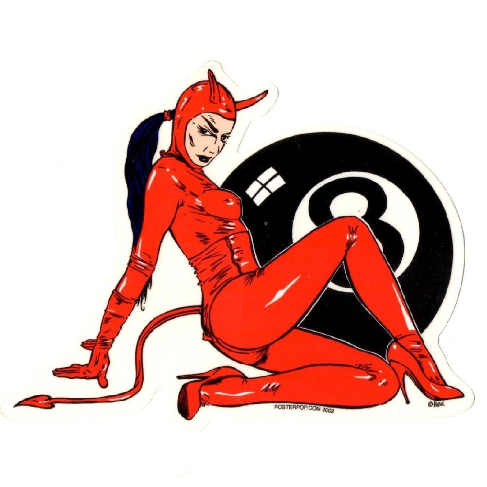 Kozik Fetish Girl Sticker