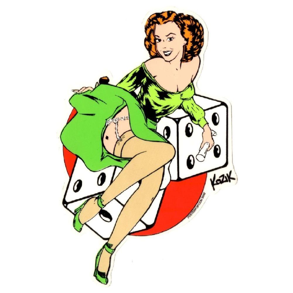 Kozik Lucky Lady Sticker