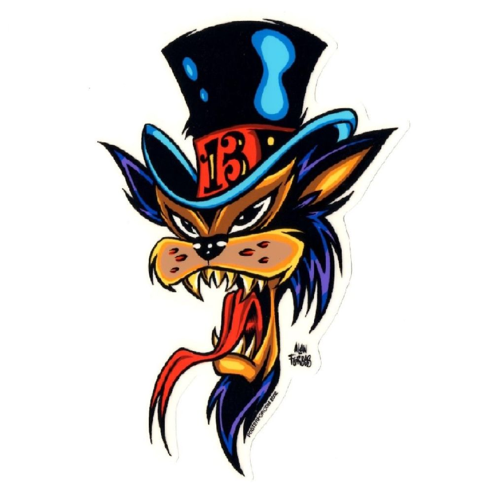 Forbes Top Hat Cat Sticker