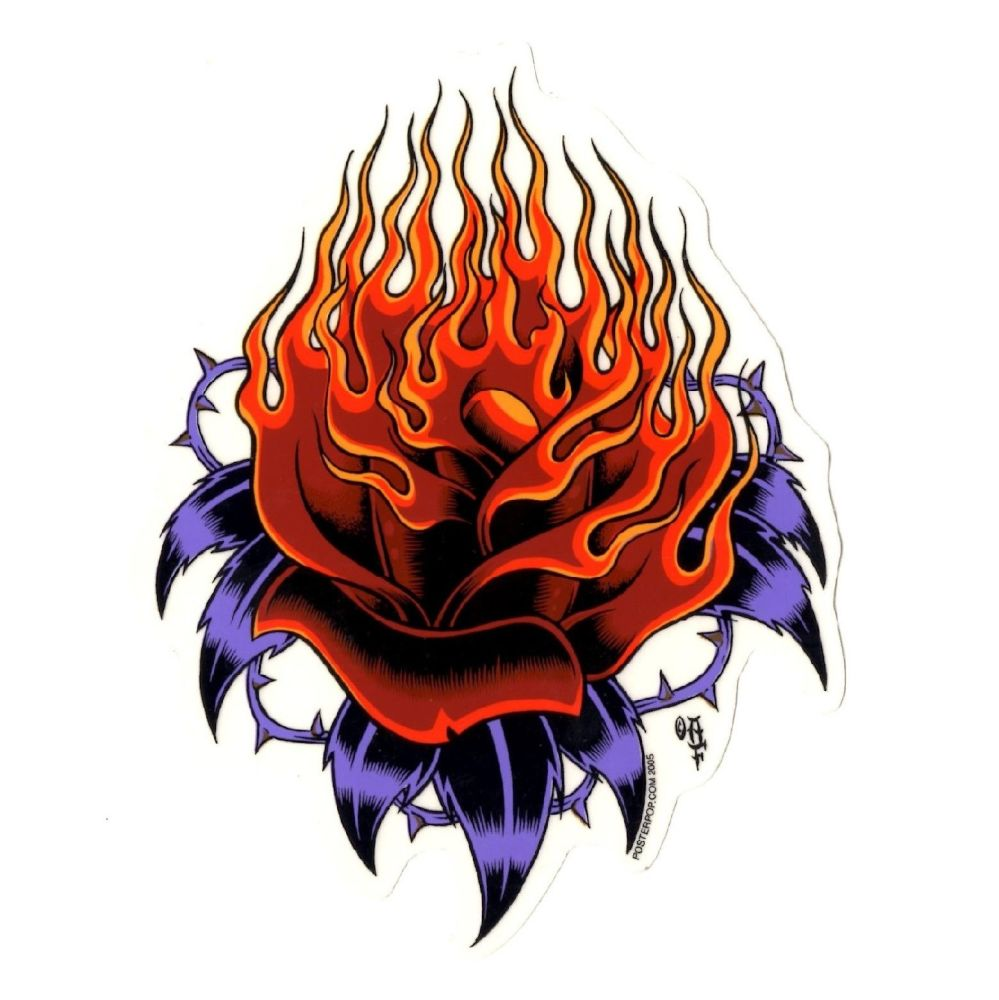 Forbes Flaming Rose Sticker