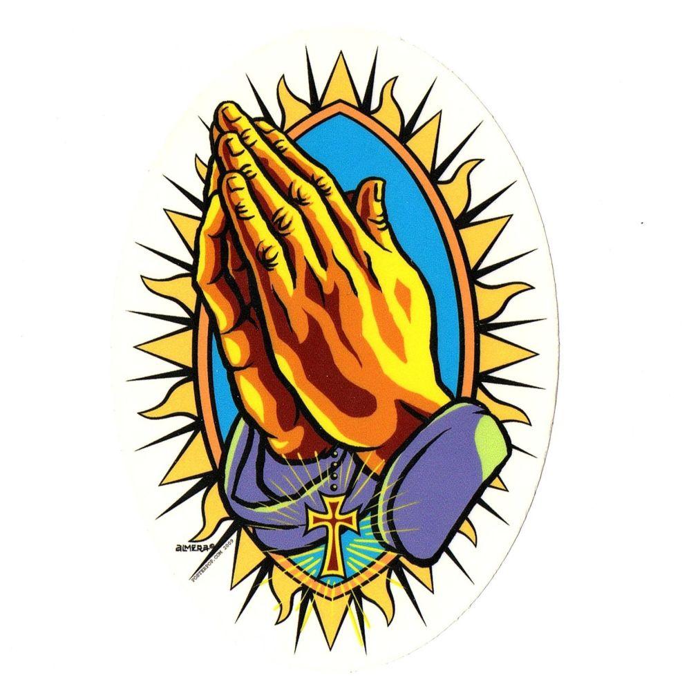 Almera Praying Hands Sticker