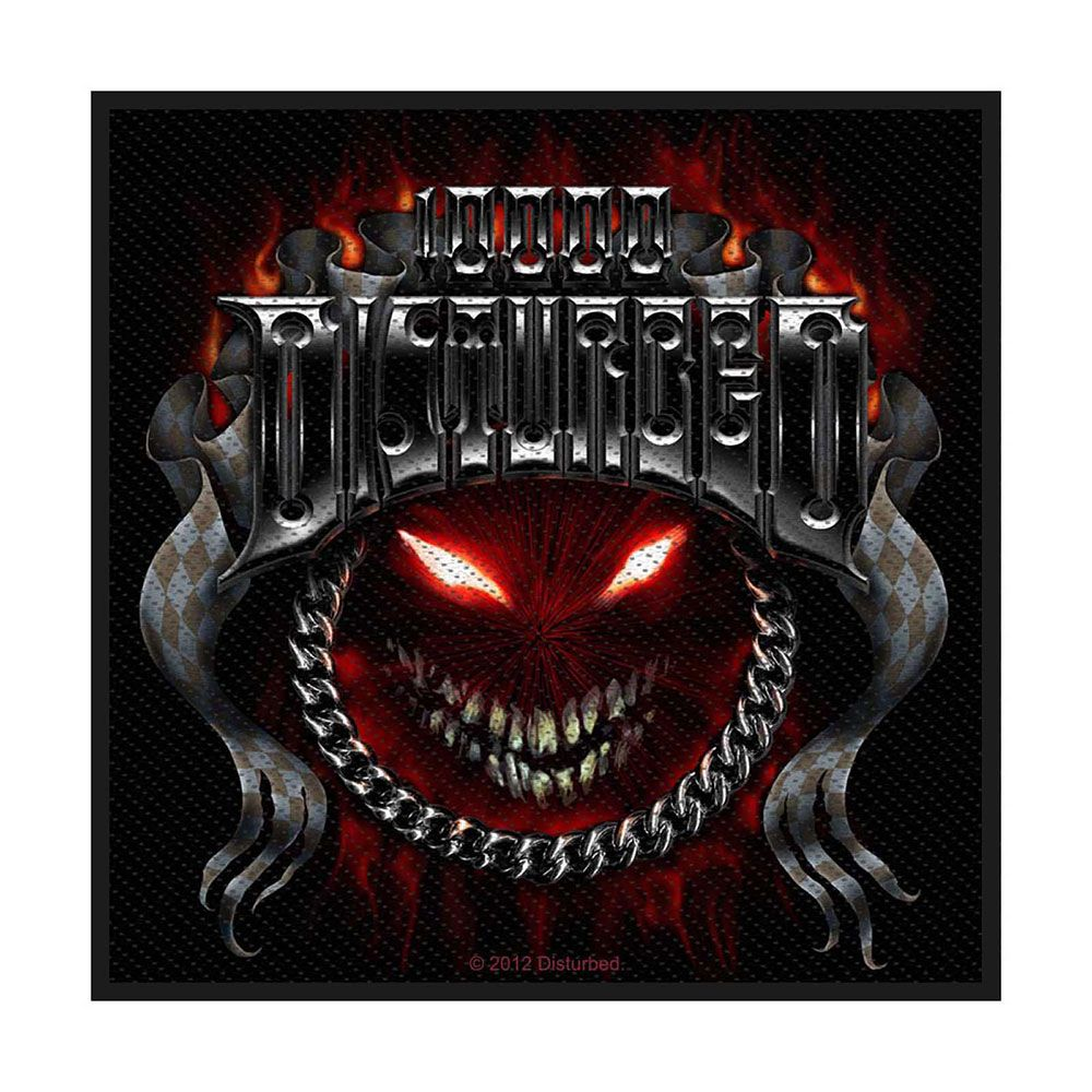 Disturbed Chrome Smiley Patch
