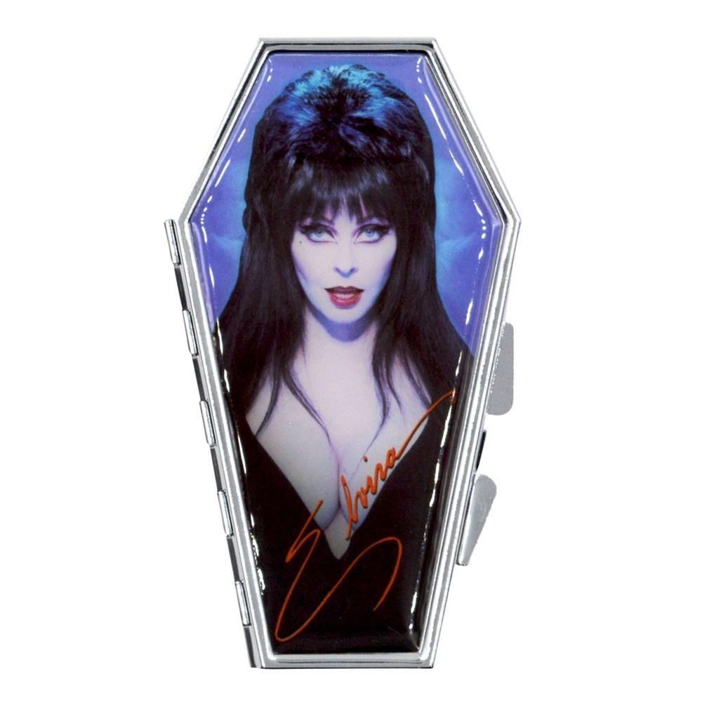 Kreepsville 666 Elvira Blue Portrait Coffin Compact Mirror