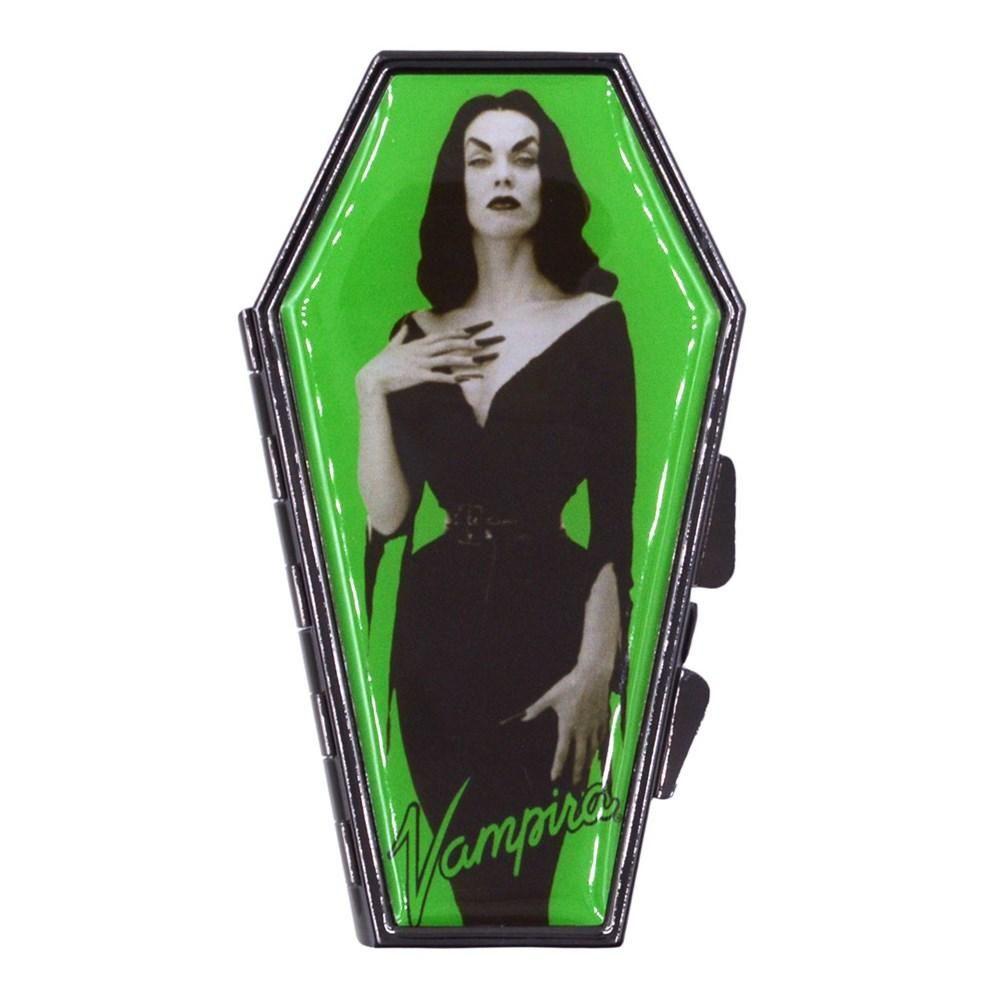 Kreepsville 666 Vampira Green Portrait Coffin Compact Mirror