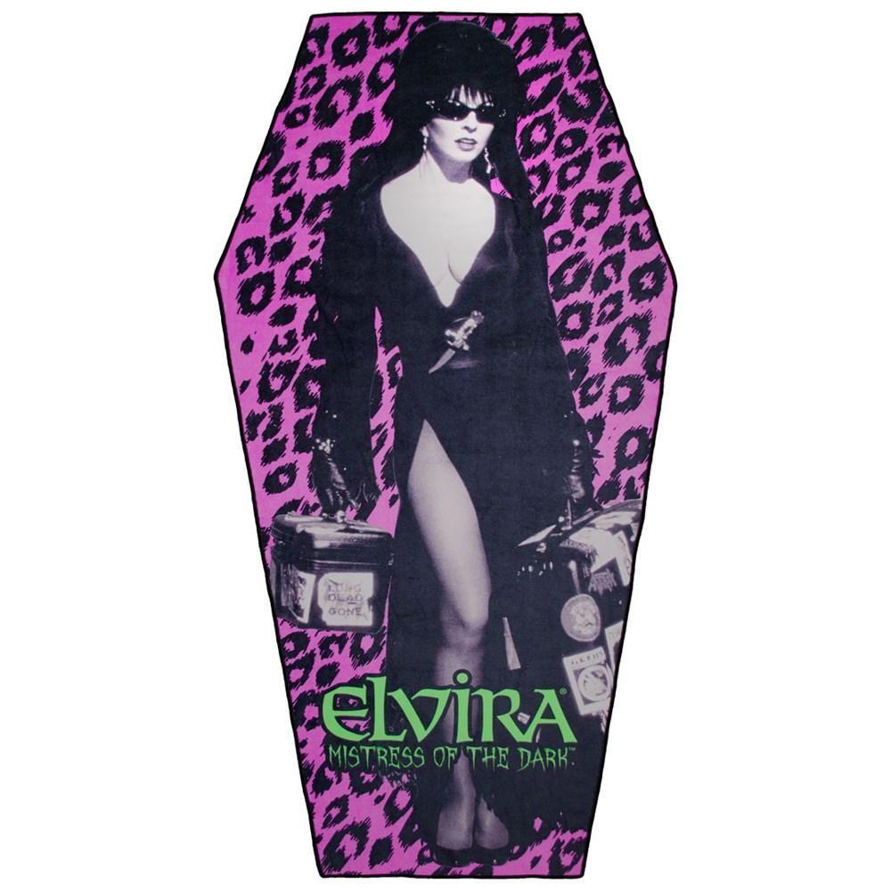 Kreepsville 666 Elvira Leo Coffin Beach Towel