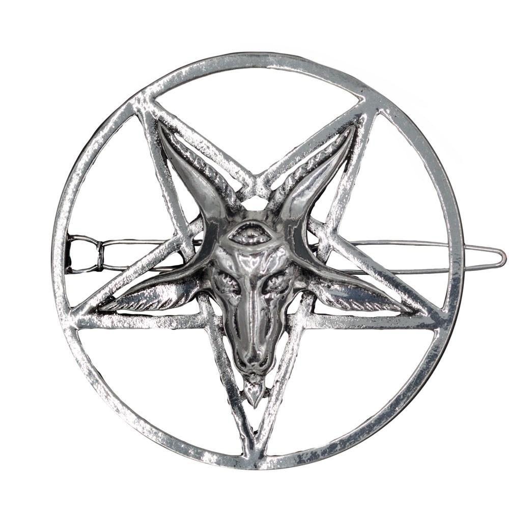 Kreepsville 666 Baphomet Satanic Circle Hair Slide