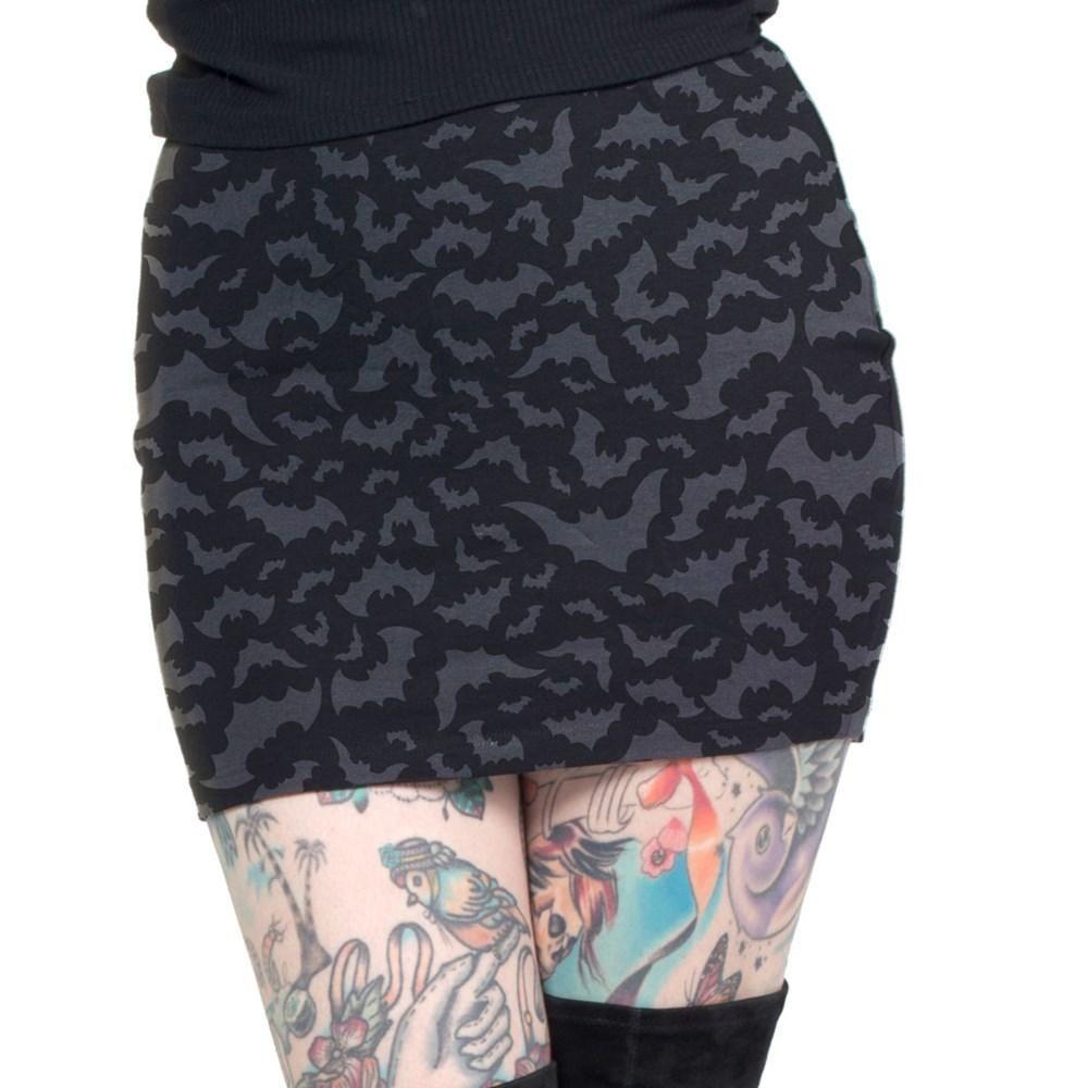 Kreepsville 666 Bat Repeat Mini Skirt