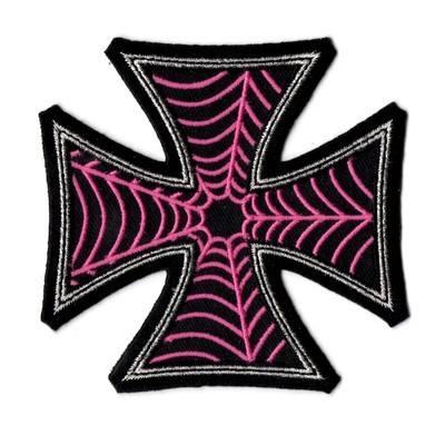 Kreepsville 666 Web Cross Pink Patch