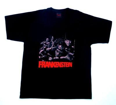 Frankenstein And The Monster From Hell Tshirt LARGE