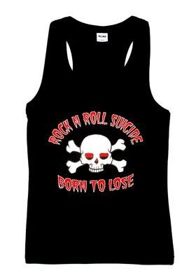 Rock N Roll Suicide Born To Lose Black Vest Top SMALL