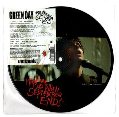 """Green Day Wake Me Up When September Comes 7"""" Picture Disc"""