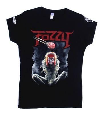 Fozzy Let The Madness Begin Black Lady Fit Tshirt Medium