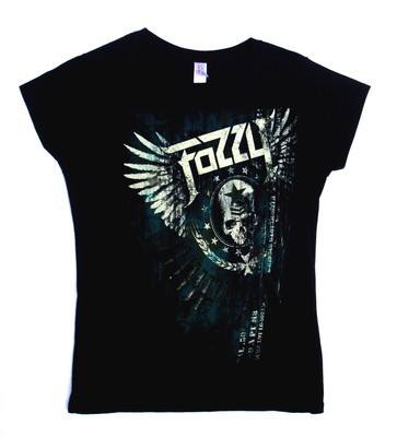 Fozzy Winged Skull Black Lady Fit Tshirt Large
