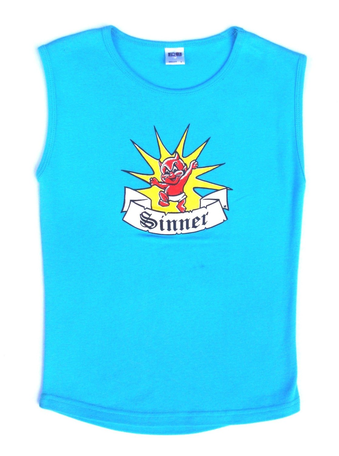 Rock N Roll Suicide Devilette Sinner Turquoise Sleeveless Top Small