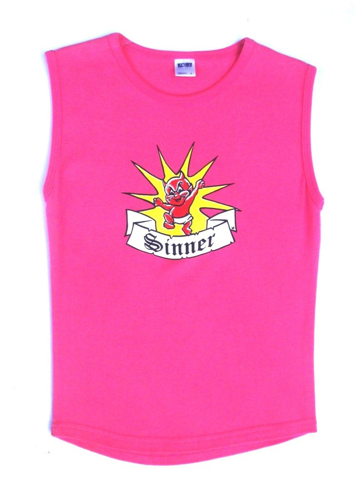 Rock N Roll Suicide Devilette Sinner Pink Sleeveless Top Small