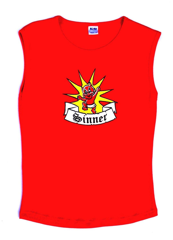 Rock N Roll Suicide Devilette Sinner Red Sleeveless Top Small