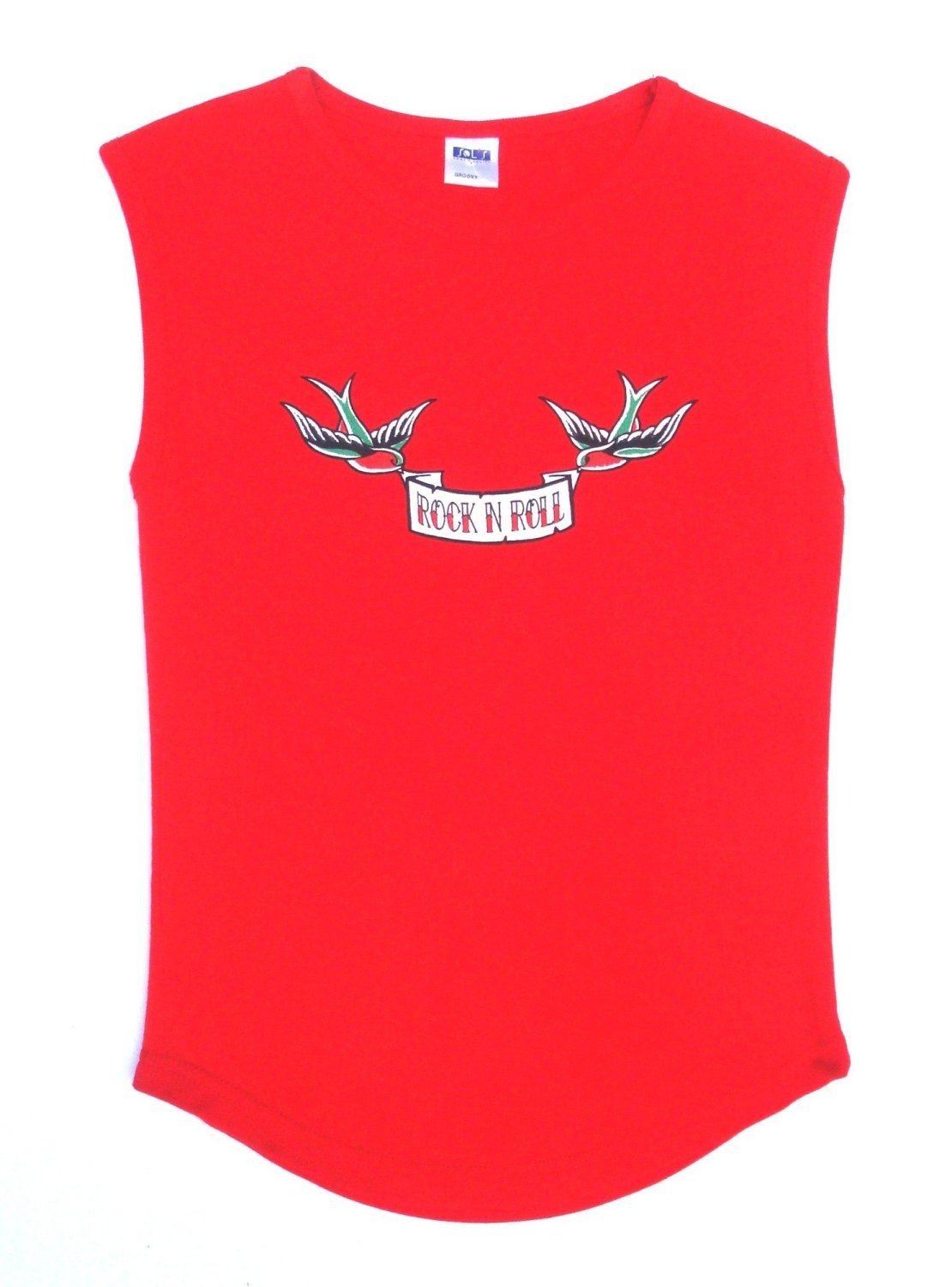 Rock N Roll Suicide Rock N Roll Swallows Red Sleeveless Top Small
