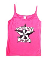 Rock N Roll Suicide Nautical Star Pink Strappy Top