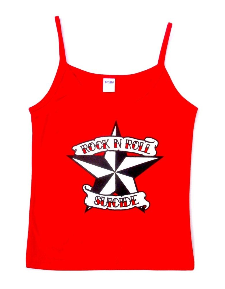 Rock N Roll Suicide Nautical Star Red Strappy Top
