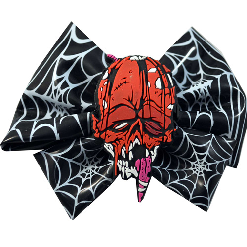 Toxic Toons Hairbow Red Zombie